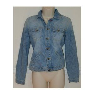 Vtg 90s Cropped Jean Jacket Denim Jacket XS